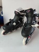 Osprey Inline Skates Boys Girls. Size UK adj 1-4.  Good Condition. Black.VGC.
