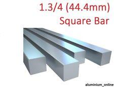 "ALUMINIUM SQUARE BAR 1.3/4"" (44.4mm) lengths 100mm to 2500mm 2.5m"