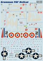 Print Scale 72-094 Decal for Grumman F6F Hellcat 1:72