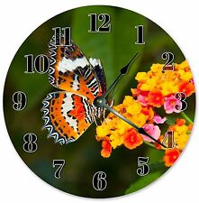 "10.5"" BUTTERFLY GARDEN CLOCK - Large 10.5"" Wall Clock - Home Décor Clock - 3230"