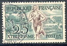 TIMBRE FRANCE OBLITERE N° 961 JEUX OLYMPIQUES D'HELSINKI ATHLETISME