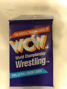 2 Packs 1991 IMPEL WCW WRESTLING CARDS Sealed Rare WWF