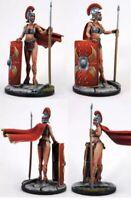 1/32 54mm Resin Figure Model Kit Sexy Girl Roman Female Warrior Woman Unpainted
