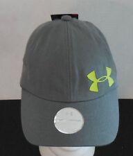 Under Armour Girls' Storm Big Logo Cap Headwear Grey Hydro / Volt Size Osfm New