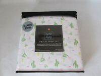 Cynthia Rowley Twin X Long sheet set green blue yellow white Cactus Palm trees