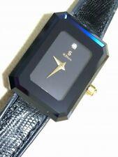 H. STERN Watch SAFIRA 18K 750 Yellow Gold Stainless Sapphire 1 Diamond Square