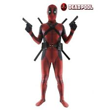 Kids Adults Deadpool Costume Superhero Cosplay Lycra Morph Halloween Bodysuit