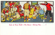 Football End of First Half-No Score-Giving 'Em__! Sign M. L. Blumenthal Postcard