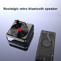 Wirelessly Portable Retro Turntable Vinyl Record Player Speakers Music Playing