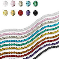 100pcs 8mm Rondelle Beads Faceted Glass Crystal Loose Spacer Bead Jewelry Making