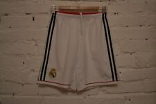 REAL MADRID HOME FOOTBALL SHORTS 2015/2016 SOCCER ADIDAS WHITE MENS S