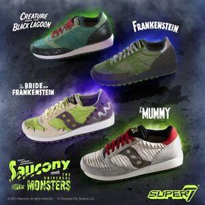 Saucony x Super7 It's Alive! Universal Monster Shoes Set 2 SIZE 9.5 FULL SET