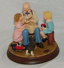 Norman Rockwell Rockwells Living Treasures Grandpas Gift Of Love 82211 19737