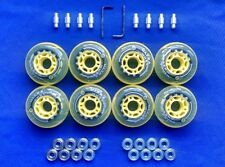 Rollerblade Inline Hockey Fitness Skate Wheels 76mm 82A  ABEC 9 Bearings Spacers