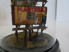 New ListingPlanters Mr. Peanut Folk Art Diorama In Glass Dome Cloche Billboard Mark Woodson