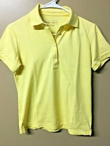 Lady Hagen Women's Size X-Small Short Sleeve Yellow Collared Shirt / mv0648