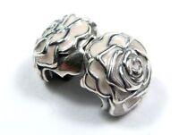 NEW Authentic Pandora Charm Pink Enamel Rose Garden Clip 791292EN40