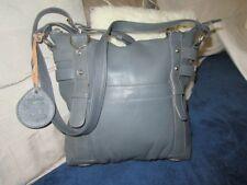 Gabee leather handbag Ladies Grey Blue Celebrating 60 years. Lovely condition