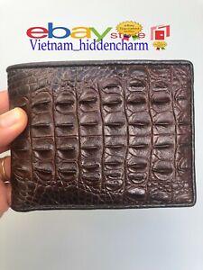 Genuine Crocodile Wallets Skin - Leather Billfold Men's-Handmade 100%-VN12