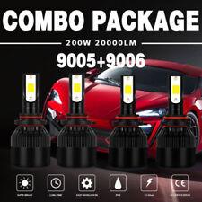 Combo 9005/H10+9006/HB4 400W 40000LM LED Headlight Conversion Kit Bulb 6000K CFP
