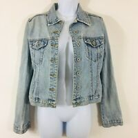 Buffalo Jeans David Bitton Womens Jacket Sz S Blue Denim Casual 100% Cotton P18