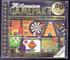 Millennium Gamepak Gold 50 Complete Games (PC,2000) Jewel Case Free USA Shipping