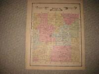 ANTIQUE 1875 IOSCO TOWNSHIP LIVINGSTON COUNTY MICHIGAN HANDCOLORED MAP RARE FINE