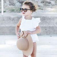 Newborn Baby Girls Playsuit Bodysuit Top Romper Sunsuit Jumpsuit Outfits Clothes
