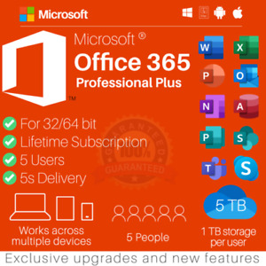 ✅🔥 Microsoft Officè365 2019 Pro Plus Account With 5 Devices And 5TB ✅🔥