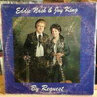 [ROCK/POP]~EXC LP~EDDIE NASH & JOY KING~By Request~{Original 1976~Issue]~SIGNED~
