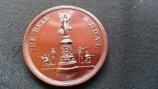"""VINTAGE British Periodo edoardiano in miniatura FUCILE CLUB MEDAGLIA DI BRONZO - """"LA CAMPANA MEDAGLIA"""""""