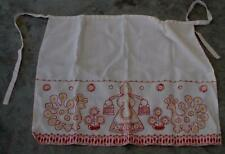 Vintage Hand Made Polyester Blend Hand Embroidered Waist Apron, VGC - NICE PIECE