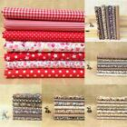 100% Cotton 7 Assorted Pre Cut Charm 10'' Squares Quilt Sewing Fabric Cloth DIY