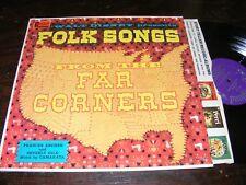 Walt Disney LP Rarity FOLK SONGS Frances Archer Beverly Gile CAMARATA Purple Lbl