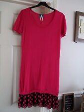 NEXT Size 8 pink long length short sleeve mock 2 piece frill hem thin jumper