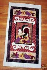 The Bella Market Rooster Wall Hanging Pearl Krush Troy Riverwoods  Fabric Panel
