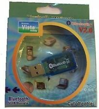 Bluetooth USB Dongle V2.0 Vista Pronto ** Nuovo **