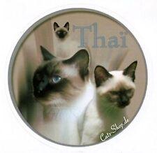 Design Aufkleber Thai Katze  / Old-Style Siamese 15cm