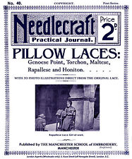 Needlecraft Practical Journal #40 c.1904 Vintage Instructions Bobbin Pillow Lace