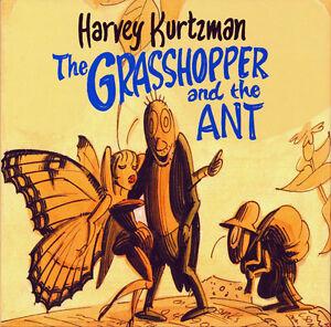 Harvey Kurtzman Grasshopper & Ant HC Aesop Beatnik 1960