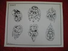1990 Spaulding & Rogers Flash Art Ghoulish Figures Page 1556T
