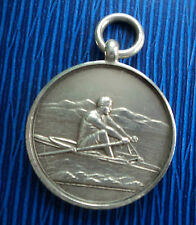 Vintage Stg. Silver Fob Medal - Rowing / Sculling h/m 1924 William James Dingley