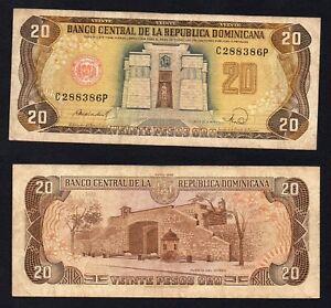 Republica Dominicana - 20 pesos oro 1988 BB/VF  A-09
