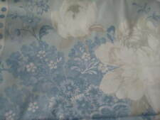 NEW LAURA ASHLEY ROSEHILL DUCK EGG FLORAL FABRIC MATERIAL (PER METRE)