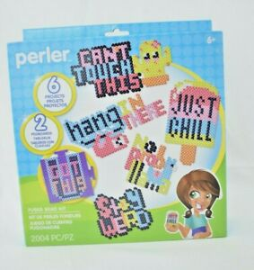 Perler - Just Say It Kit - 2004 Pieces - Fused Bead Kit - 6 Projects (New)
