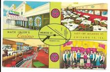 Postcard Illinois Chicago Restaurant Casino Chrome Vintage Roadside America