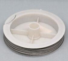 5Rolls Silver Tone Steel Beading Wire 0.8mm 15M/Roll