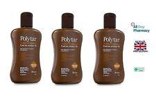 Polytar Scalp Shampoo Psoriasis Eczema Itchiness Coal Tar 4%-150ml Pack Of Three