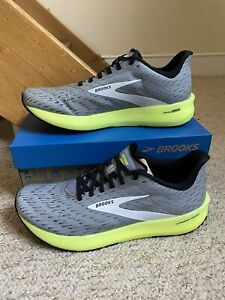 New/BNIB Brooks Hyperion Tempo Trainers/Shoes Grey/Yellow UK Sz. 8