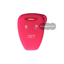 Fit for DODGE Chrysler Jeep 4 Buttons Hot Pink Silicone Key Shell Case Key Cover